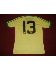 Football Memorabilia Welsh Shirt of unknown footballer No:13, match worn
