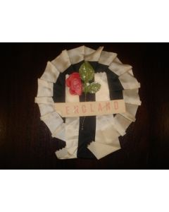 1966 World Cup England Vintage Rosette with rose