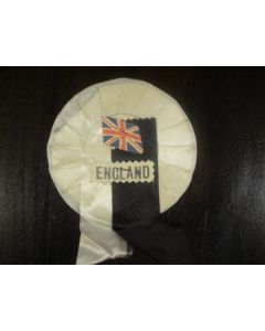 1966 World Cup England Vintage Rosette with national flag