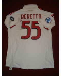 Match worn shirt of AC Milan's Beretta No 55 during 2009 World Football Challenge