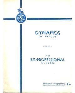 Dynamo Prague v Ex-Professional XI official programme
