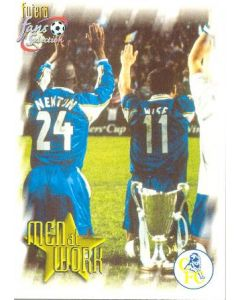 Chelsea card of 1999 featuring Eddie Newton and Dennis Wise
