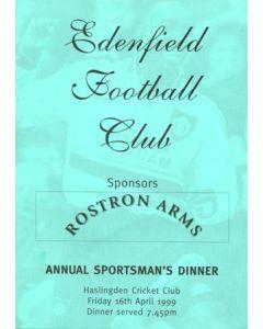 Edenfield FC Annual Sportsman's Dinner at Haslingden Cricket Club 16/04/1999