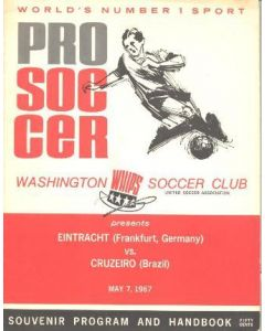 1967 Eintracht, Frankfurt, Germany v Cruzeiro, Beazil official programme 07/05/1967