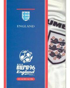 1996 European Championship England in Euro 96 VIP brochure 08-30/06/1996