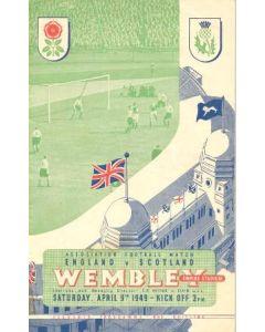 1949 England v Scotland official programme 09/04/1949, different variant