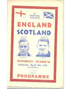 1949 England v Scotland official programme 09/04/1949