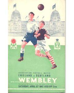 1947 England v Scotland official programme 12/04/1947