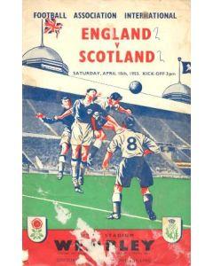 1953 England v Scotland official programme 18/04/1953
