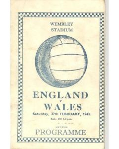 1943 England v Wales official programme 27/02/1943 pirate