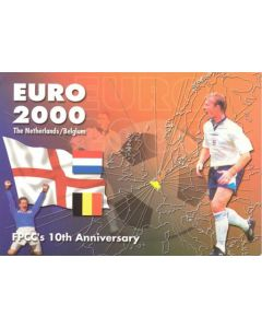 Euro 2000 postcard Football Postcard Collectors Club's 10th Anniversary