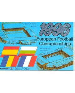 European Championship 1996 in England - Group B postcard