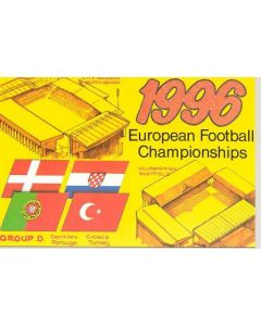 European Championship 1996 in England - Group D postcard