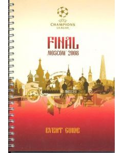 2008 Manchester United v Chelsea VIP Events Guide for the League Cup Final, played in Moscow in 2008, given to UEFA officials only