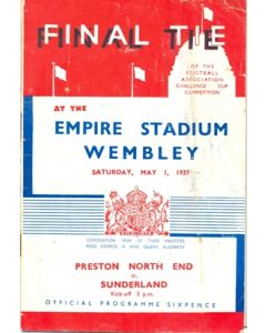 1937 FA Cup Final Programme Very Rare!