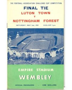 1959 FA Cup Final Programme, reduced price