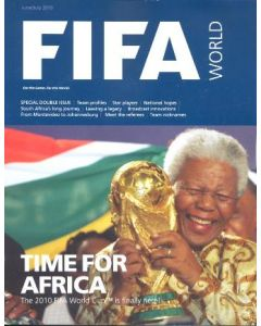2010 World Cup FIFA World magazine with a poster