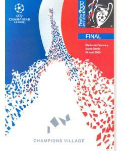 2000 Champions League Final Menu Champions Village 24/05/2000