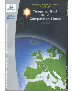 1998 World Cup in France official programme for the final draw 04/12/1997