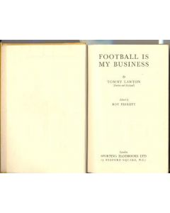 Football Is My Business book by Tommy Lawton, not signed by the author