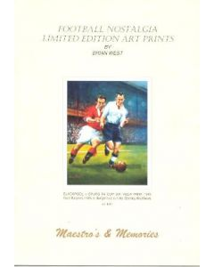 Booklet - Football Nostalgia - Limited Edition Art Prints - Maestros & Memories by Brian West