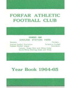 1964-1965 Forfar Athletic FC Year Book