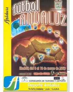 2003 Football Andalucia Spanish tournament programme 08-16/03/2003