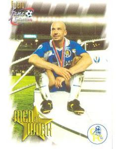 Chelsea card of 1999 featuring Gianluca Vialli