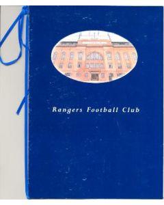 Glasgow Rangers v Fenerbahce menu 07/08/2001 Champions League