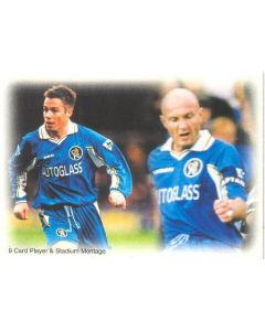 Chelsea card of 1999 featuring Greame Le Saux and Frank Leboeuf