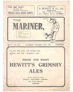 grimsby town v portsmouth football programme