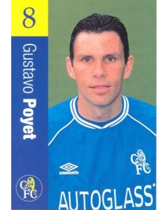Chelsea - Gustavo Poyet official Chelsea card