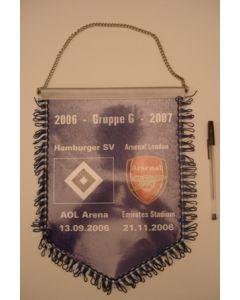 2006-2007 Champions League Group G Hamburg v Arsenal Pennant