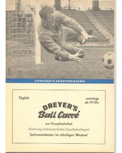 1968 Cup Winners Cup Semi Final Hamburg v Cardiff City Lipphardt's Edition programme 24/04/1968