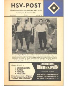 1963 Hamburg v Luxembourg official programme 25/09/1963