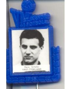 Hans Schafer W. Germany World Cup 1958 Badge Blue