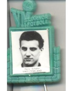 Hans Schafer W. Germany World Cup 1958 Badge Green