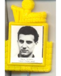 Hans Schafer W. Germany World Cup 1958 Badge Yellow