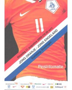 Holland v England official press pack 12/08/2009 in Dutch