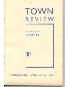 Huddersfield Town Review 1939-1940