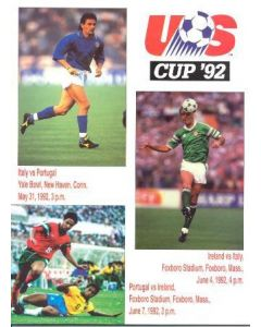 1992 Italy v Portugal official programme 31/05/1992 and Portugal v Ireland 07/06/1992 US Cup 1992