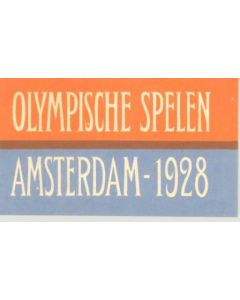 1928 IX. Olympic Games in Amsterdam small luggage tax