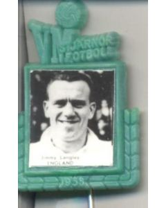 Jimmy Langley England World Cup 1958 Badge Green