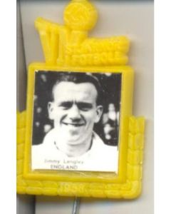 Jimmy Langley England World Cup 1958 Badge Yellow