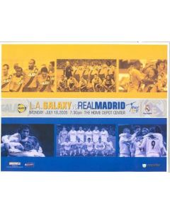 2005 Los Angeles Galaxy v Real Madrid official programme 18/07/2005