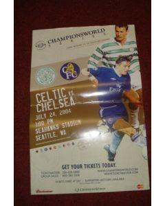 In the USA - Celtic v Chelsea Championsworld poster 24/07/2004