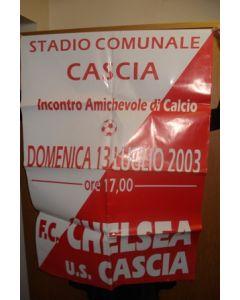 Cascia v Chelsea Colour Official Poster non-programme game 13/07/2003