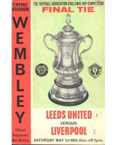 1965 FA Cup Final Programme 01/05/1965