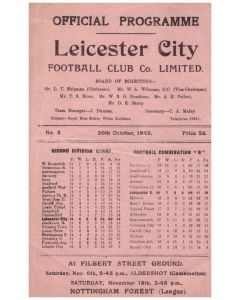 1948 Leicester city v barnsley football programme