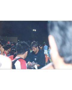 A Liverpool Player Giving Autographs Thai produced colour photograph